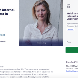 Free Live Webinar Masterclass On Managing Stress In Cooperation With The Rotterdam School Of Management